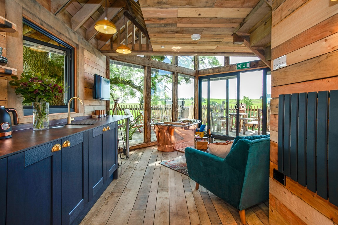 Stay at Cadwollen's luxury treehouse Wales