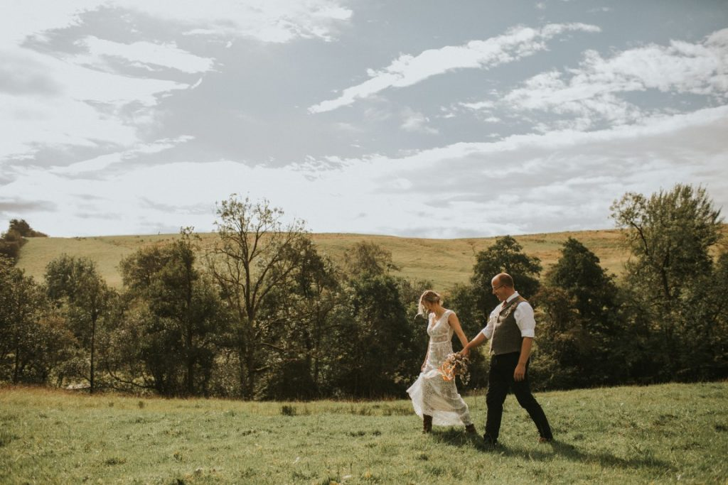 Intimate 10 year Vow Renewal on hilltop