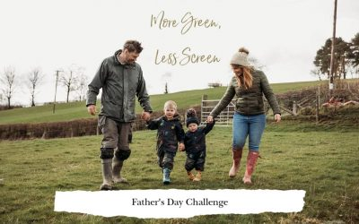 More Green Less Screen Father's Day Challenge