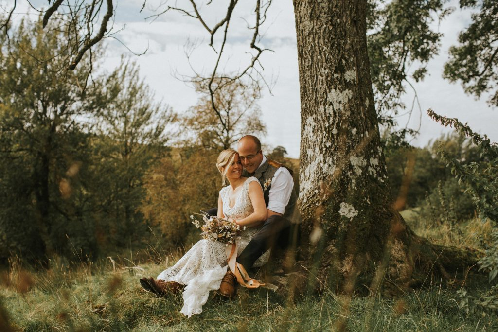 Rustic and intimate 10 year vow renewal