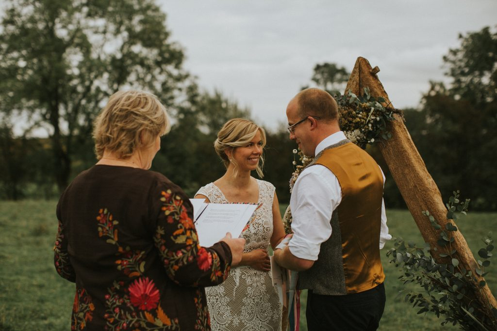 Hand fasting ceremony for vow renewal