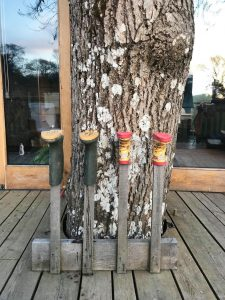 Welly boot rack at the Treehouse