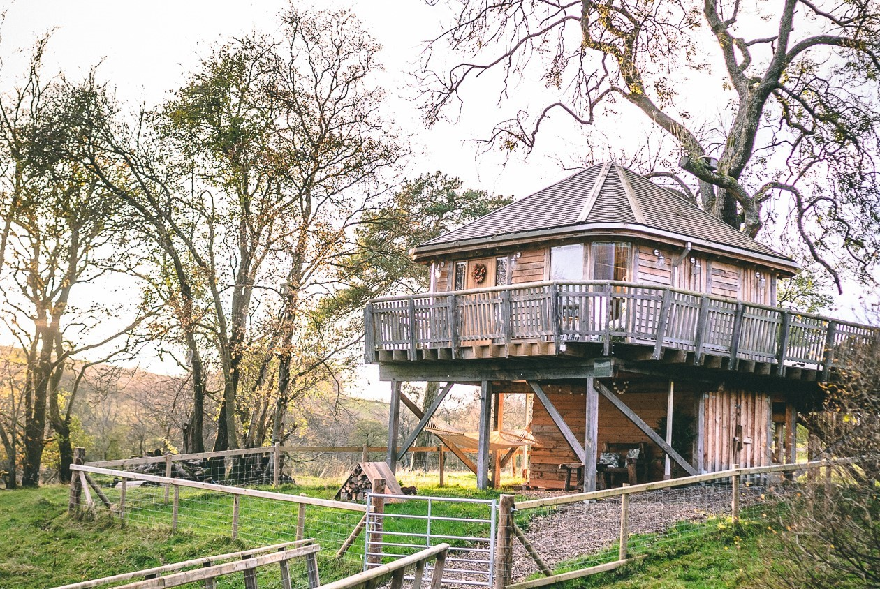 Views at Trawscwm Treehouse in Wales
