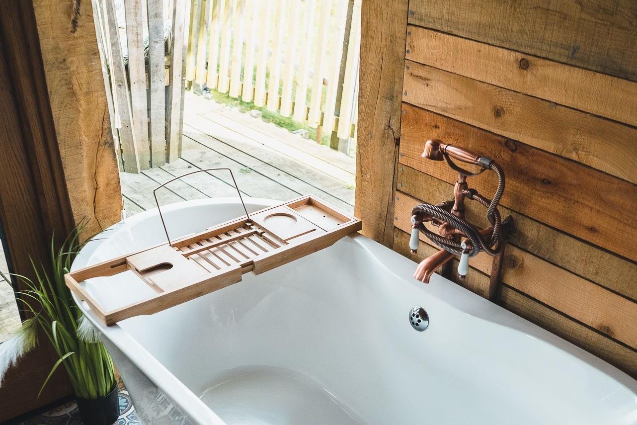 Bathroom in Trawscwm Treehouse